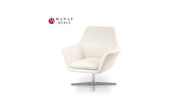 Fotel Obrotowy Skóra naturalna Meble Wanat