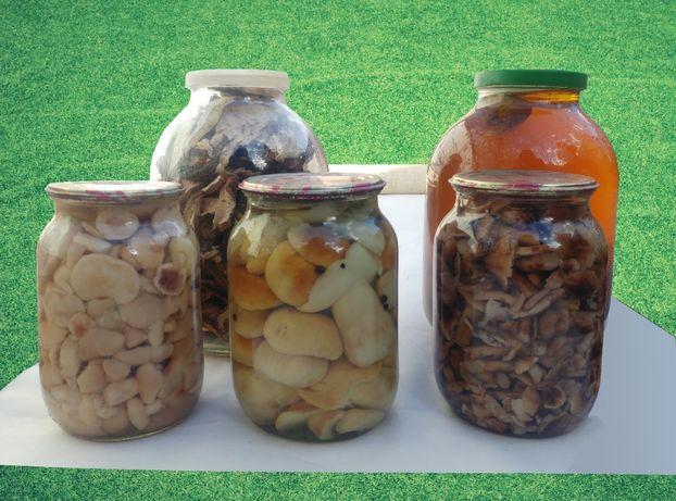 Консервовані гриби, консервированные грибы, білі, белые