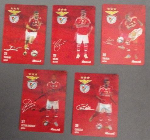 5 cartões 3D Record - Benfica - 2015 - produto oficial