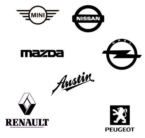 Autocolantes Mazda - Mini - Nissan - Opel - Peugeot - Renault