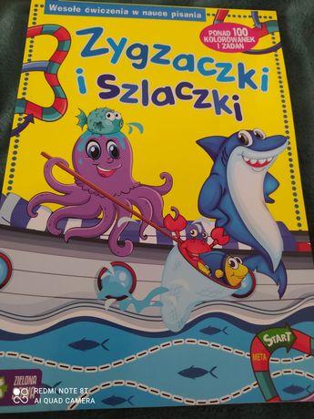 Książeczka wesołe zabawy w nauce pisania!