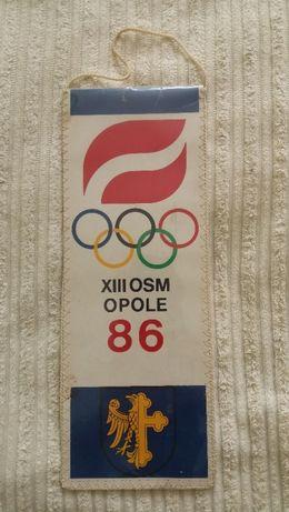 Ogólnopolska Spartakiada Młodzieży w Opolu 1986 rok + znaczek metalowy