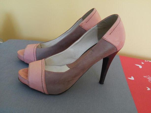 Piękne buty, szpilki skórzane Kati- rozmiar 37