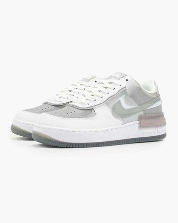 """Кроссовки женские  Nike Air Force Shadow """"Белый / Серый"""