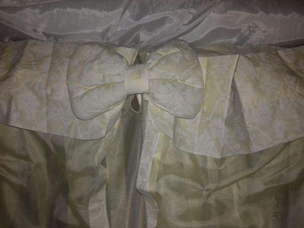 Новый балдахин и кармашек на кроватку