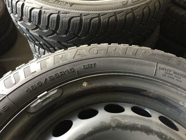 Koła zimowe Mercedes A klasa felgi stal+opony zima Goodyear BDB stan!!