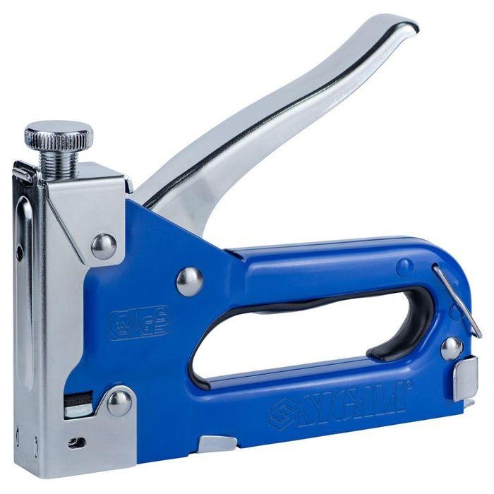 Степлер с регулятором для скоб 4-14мм (синий) SIGMA (2821011) Ровно - изображение 1
