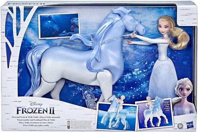 КуклаЭльза и Интерактивный Конь ХОДИТ и ПЛАВАЕТ Elsa and Swim a