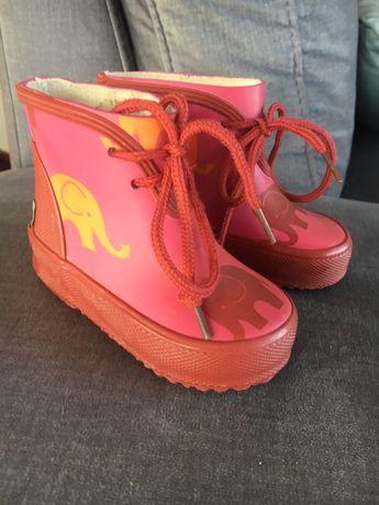 Śliczne kalosze dla dziewczynki r. 19 buty buciki