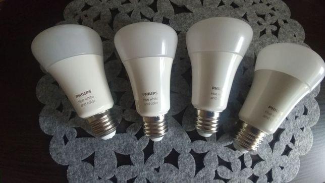 4 żarówki Philips Hue e27 White and Color (stan idealny)