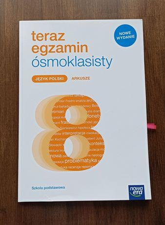 teraz egzamin ósmoklasity matematyka, j. polski - arkusze Nowa Era