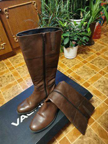Сапоги Wagabond весенние кожаные коричневые, деми 39р.