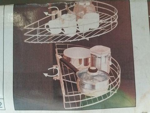 3 conjuntos cozinha meia lua giratorios 180º
