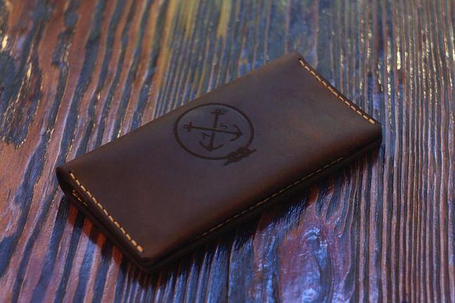 Портмоне мужское, кошелёк, клатч, тревел-кейс, кожа + Подарок брелок