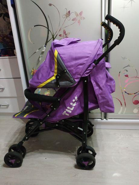 Детская прогулочная коляска Tilly rider +дождевик(состояние новой)