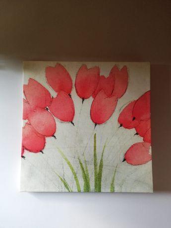 Duzy obraz w tulipany 90x90