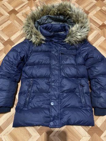 Продам детский пуховик зима мальчик AygeY 116 6 лет