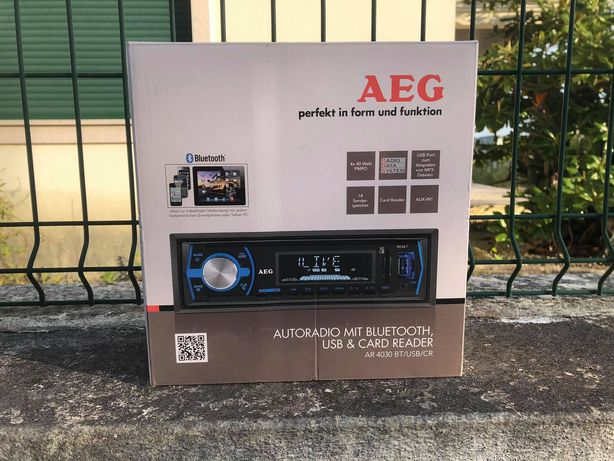 Autorrádio AEG Bluetooth AR 4030