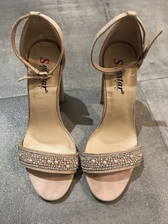 Buty sandały na slupku 36