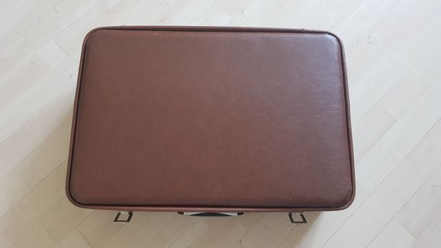Stara walizka torba bagaż neseser z PRL duża 35x52 skaja