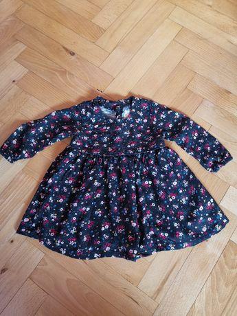 Sukieneczka w kwiaty 68 3-6m