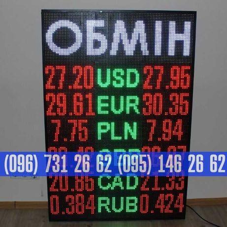 Табло валют, светодиодные бегущие строки, LED біжучі стрічки, кантор