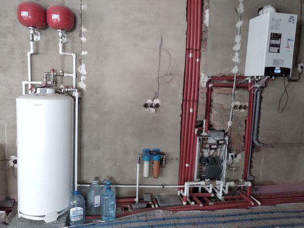 Монтаж отопления, водопровод, канализация