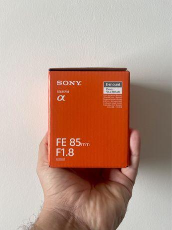 Objectiva Sony FE 85mm 1.8   Nova   Nunca Usada