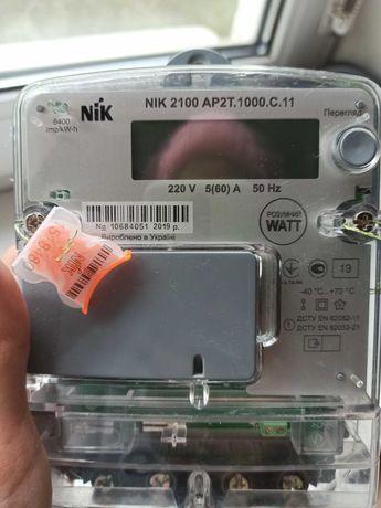 Двухзонный/двухтарифный/двухфазный счетчик Nik 2100 AP2T.1000.C.11