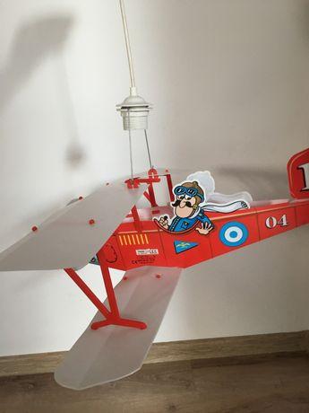 Lampa wisząca dla dziecka samolot
