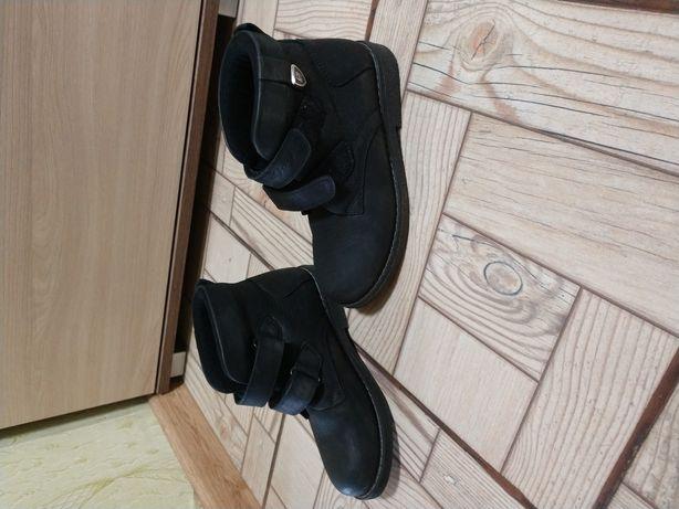 Деми ботинки, кожанные