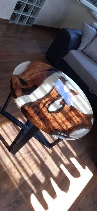 Stół, stolik kawowy zywica epoksydowa korzeń dębu WYJĄTKOWY! Siemianowice Śląskie - image 1