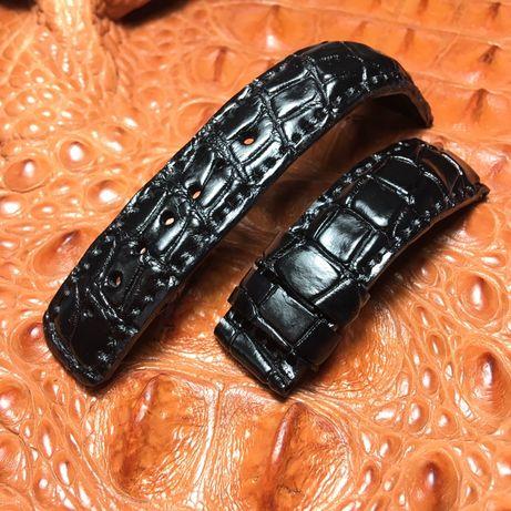 Ремешок, браслет на часы из настоящей кожи крокодила мужской, женский