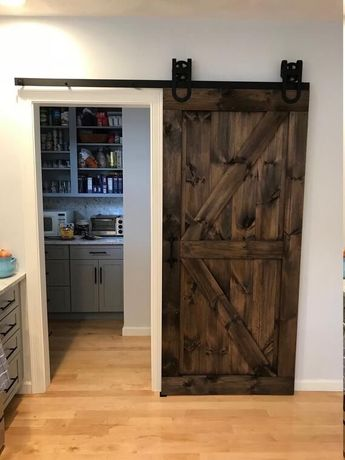 Амбарные двери в стиле лофт минимализм мебель на заказ