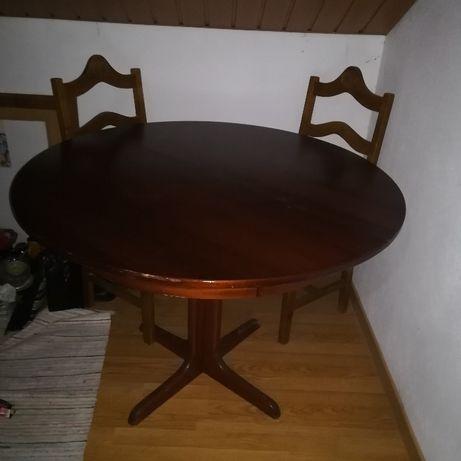 Mesa Jantar extensivel madeira maciça s/uso