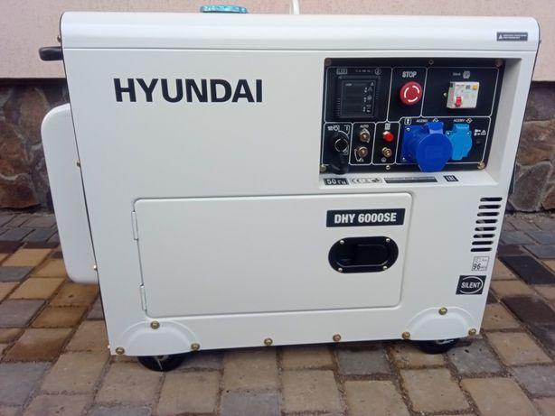 Генератор дизель в шумкорпусі 1 фаза HYUNDAI DHY6000SЕ 5,5кВт АКЦІЯ!