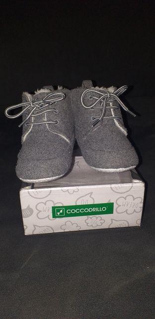 Buty niemowlęce chłopięce zimowe rozmiar 19 coccodrillo