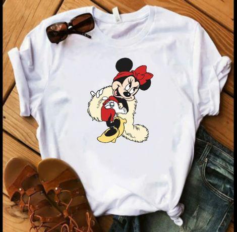 Koszulka bluzka t-shirt Disney postacie Minnie Miki mouse myszka S-XXL