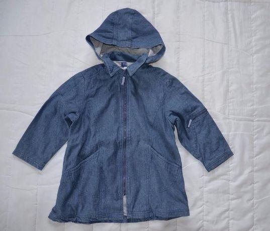 kurtka jeansowa płaszczyk wiosna 6-8 lat Vertbaudet