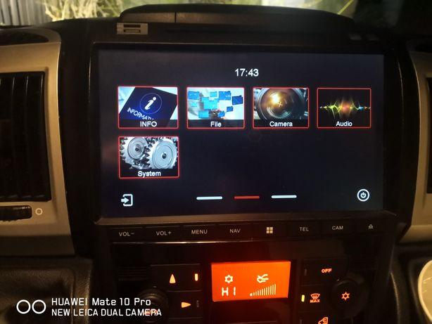 Kamper ducato trojaczki Stacja multimedialna 10.2cala navi