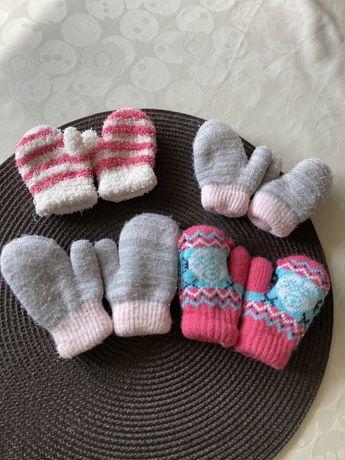 4 pary rękawiczek