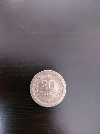 Moeda de 20 Centavos de 1921