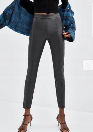 Nowe modne piękne spodnie legginsy ZARA 34 XS eko skóra