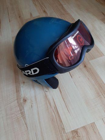 Kask narciarski dziecięcy+gogle+kominiarka