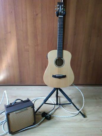 sprzedam gitarę elektro-akustyczną razem z zestawem muzycznym