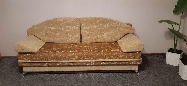 Sofa rozkładana oraz 2 fotele