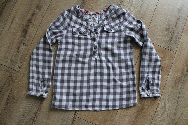 Koszula w kratkę z dlugim rękawem Cool Club 128, bluzka w kratkę