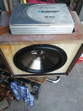 !okazja zestaw skrzynia basowa wzmacniacz car audio kable tuba subwoof