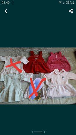 Sprzedam sukienki wiosenne letnie i body rozmiar 62 paczka ubranek