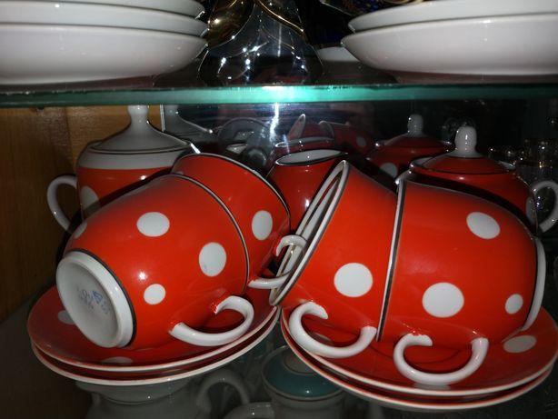 Чайный набор в горошек